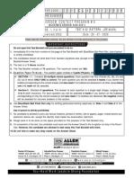 Mains Test- 2[20-07-2020]
