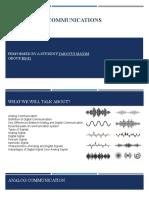 Signals and communications presentation