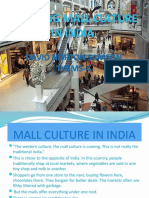 Shopping Mall Culture In India