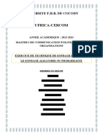Exposé UFRICA Sondage probabiliste