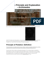 Flotation Principle and Explanation – Archimedes