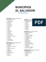 División política de El Salvador