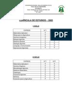 CURRICULA DE ESTUDIOS
