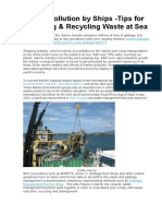 Marine Pollution by Ships -Tips for Reducing & Recycling Waste at Sea