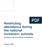 School National Restrictions Guidance