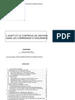 Audit interne cie assurance