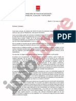 Carta de Reyero a Escudero del 31 de marzo