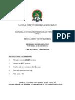 DISP 104 - PROG THEORY II exam scrfipt Dece 2019 (1)