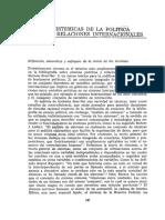 TEORíAS SISTÉMICAS DE LA POLITICA Y DE LAS RELACIONES INTERNACIONALES