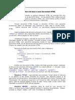 Structura de Bază a Unui Document HTML