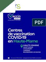Vaccination des plus de 75 ans en Haute-Marne