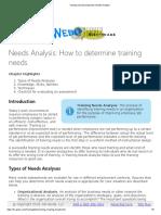 Training and Development_ Needs Analysis