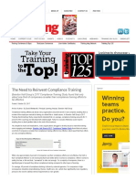The Need to Reinvent Compliance Training _ Training Magazine