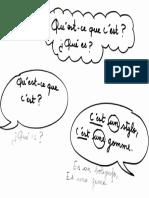 Diálogo francés qu'est ce que c'est?
