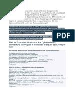 Plan de Formation Introduction à la Cybersécurité