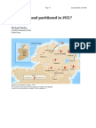 Why was Ireland partioned in 1920-21?