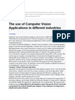 The Use of Computer Vision Applications in Different Industries