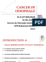 CANCER DE L'OESOPHAGE 2011