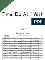 Time, Do As I Wish