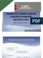 DISEÑO DE PUENTES LOSA - CONCRETO ARMADO