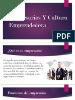 Empresarios y cultura emprendedora