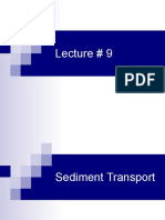 Hydraulics---sediment trasport, incipient motion criteriion, resistance to flow and bedforms, suspended load transport