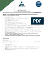 Ali's resume 2011(Pakistan)