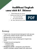 pbd-model modifikasi tingkah laku b.f.skinner