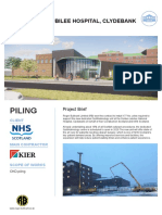 Case history regarding use of Continuous Helical Displacement (CHD) piles for Golden Jubilee Hospital, Glasgow