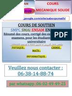 °°COURS MECANIQUE SOLIDE FS-TETOUAN SMA4 2020.pdf