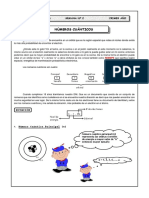 Quimica-guia 2 - Números Cuánticos- 1ro Sec-2020-III Bimestre