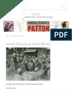 Patton_ Discurso al Tercer Ejército – Patton