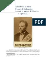 Eduardo de la Barra  y el Liceo de Valparaíso