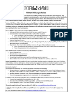 Tillman Military Scholars Summary & Application Info (2011)