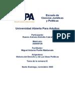 Historia Derecho- Ideas Politicas, tarea  IX