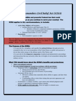 The Servicemembers Civil Relief Act (SCRA) flyer