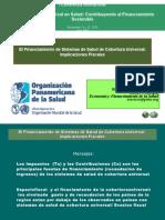 El Financiamiento de Sistemas de Salud de Cobertura Universal