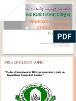 Modes of Investment of IBBL by hasib