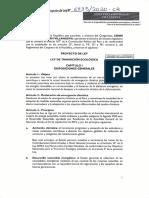 Proyecto de Ley de Transición Ecológica