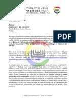 Carta de Protesta contra el periódico EL TIEMPO por articulo discriminatorio