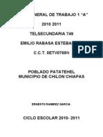 PLAN GENERAL DE TRABAJO 1 A 2009 2010