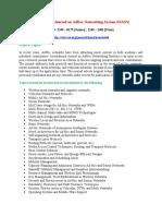 International Journal on AdHoc Networking System IJANS