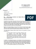 Ute Tribe Jurisdiction Letter