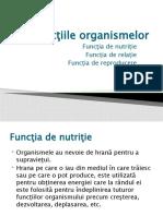 Funcţiile organismelor_functii nutritie