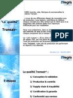 Synthèse Qualité Tests Transair FR v2 1 02-03-2007
