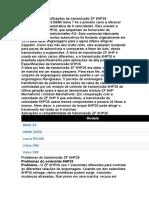 Problemas e especificações de transmissão ZF 6HP26