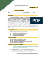 Module 8 - The Development of Filipino Ideals