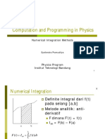 Computation and Programming in Physics - Numerical Integration Methods