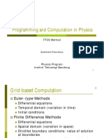 Programming and Computation in Physics - FTCS Method