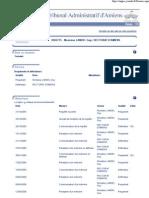 Tribunal administratif - Dossier n° 0502715 - Refus de mutation
